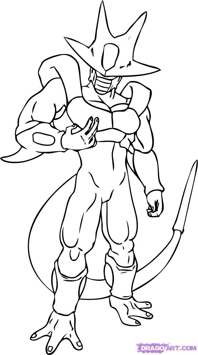 Dragon Ball Z Cooler Coloring Pages
