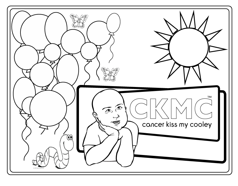 Cancer Cell Cartoon Sketch Coloring Page