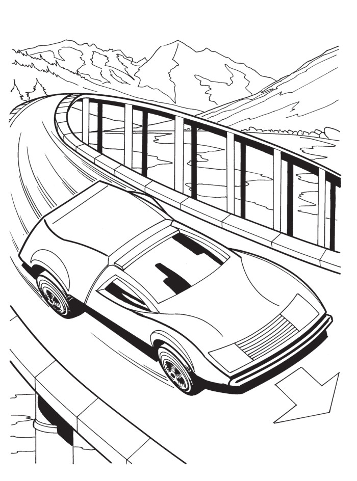 Hot Wheels Cars With Double Engine Coloring Pages - Hot Wheels ...
