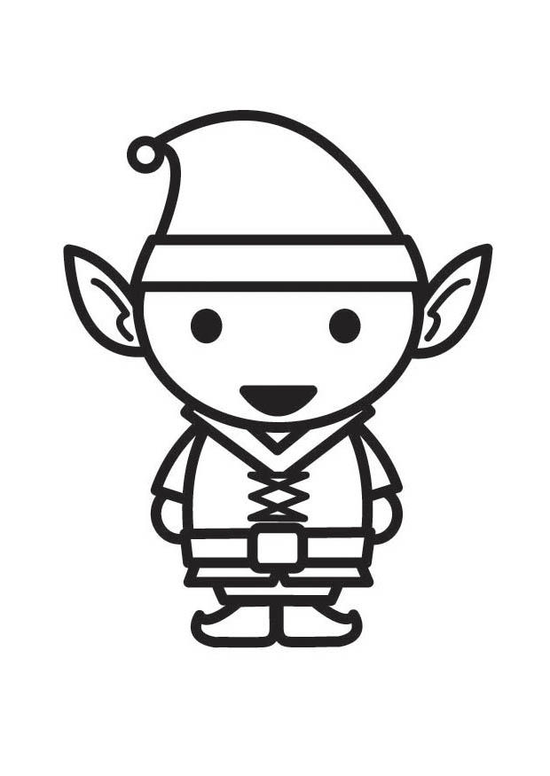 Dibujos Para Colorear De Elfos - AZ Dibujos para colorear