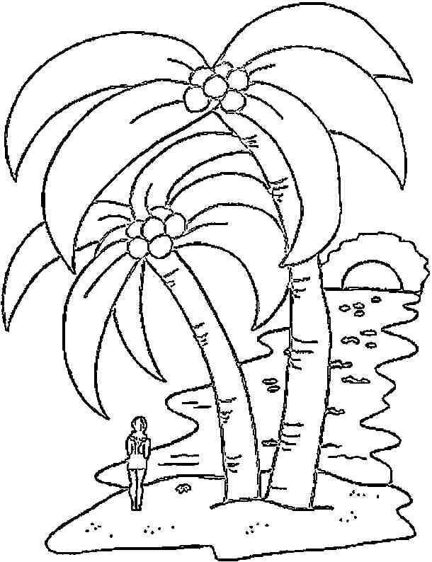 Isla para colorear Colouring Pages (page 2)