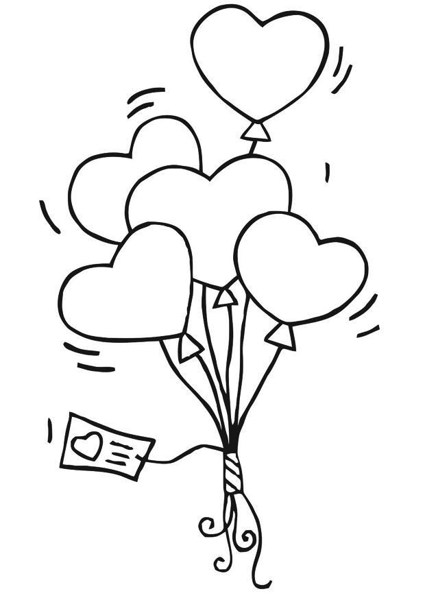 Worksheet. Dibujo Para Colorear Globos De Corazones  Img 21188  AZ Dibujos