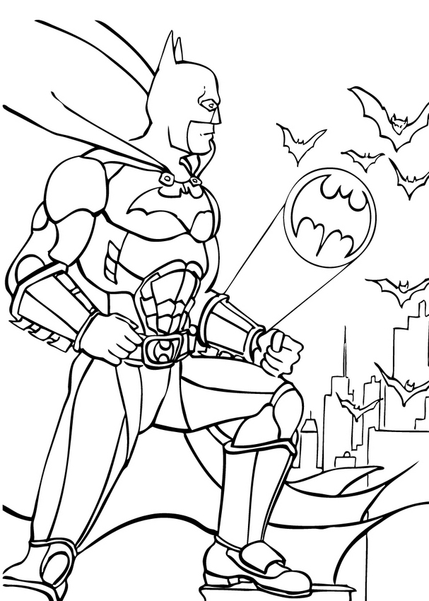 BATMAN coloring pages : 69 free superheroes coloring sheets (page 2)