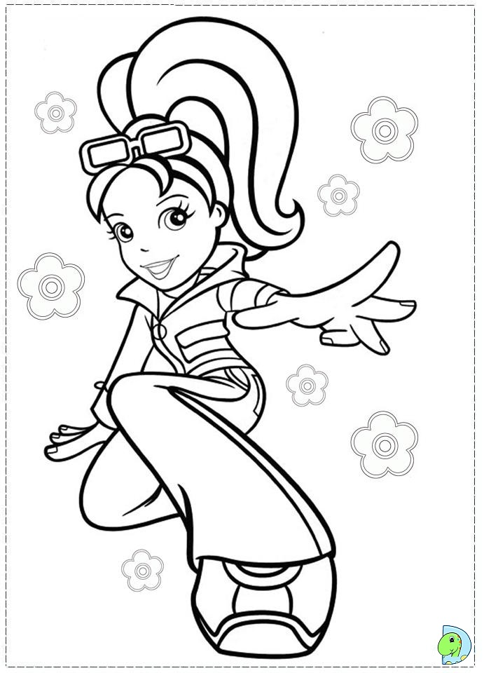 Polly Pocket Coloring page- DinoKids.org