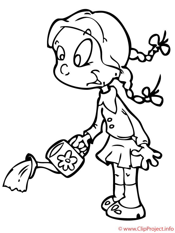NIÑO REGANDO LAS PLANTAS Colouring Pages (page 3) - AZ Dibujos ...
