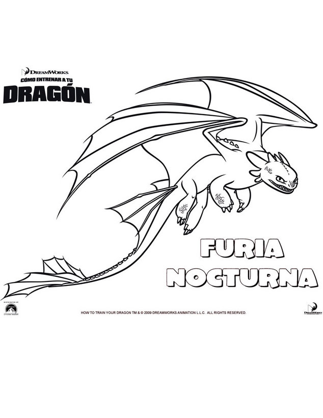 LAMINAS PARA COLOREAR - COLORING PAGES: Como Entrenar a tu Dragon ...
