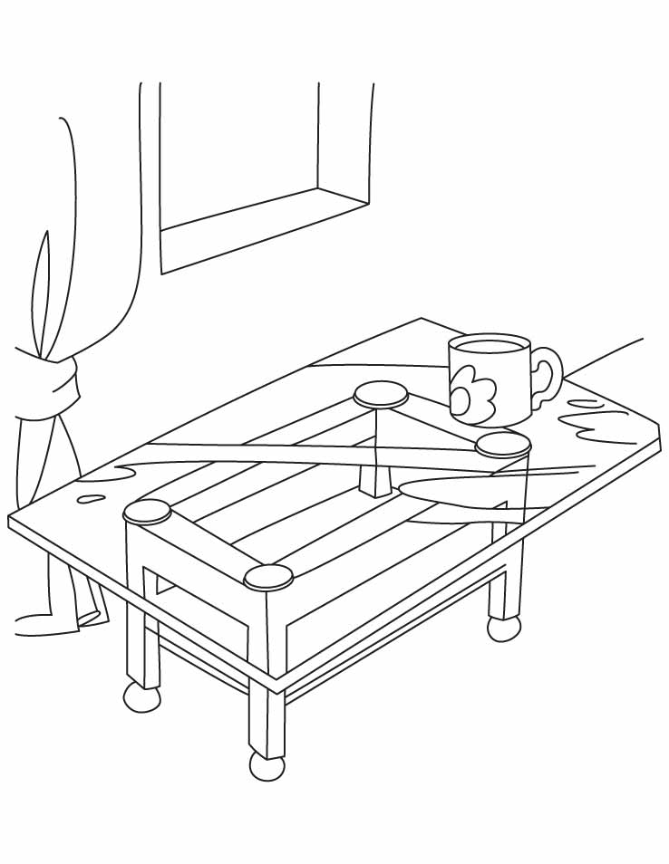 pool table coloring pages - photo#15