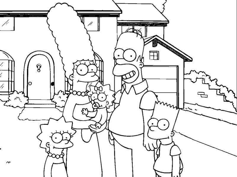 Pintar A La Familia Simpson  AZ Dibujos para colorear