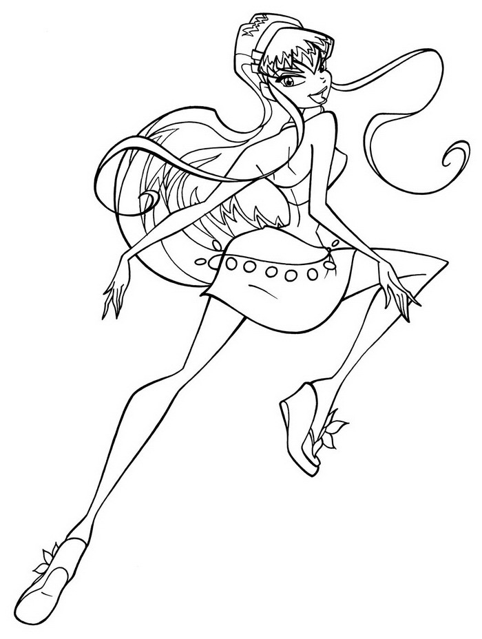 Roxy From Winx Club Colouring Pages (page 2)