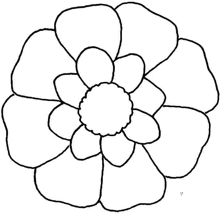 Free Coloring Pages Small Flowers Printable For Little Kids Az