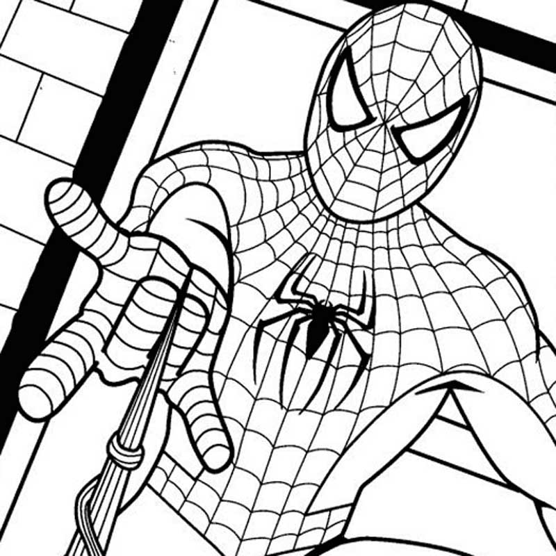 Pin Spiderman Coloring Pages For Children Cake on Pinterest