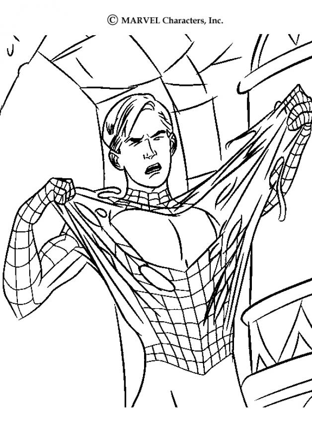 SPIDER-MAN coloring pages - Spiderman gets infected with the Venom ...