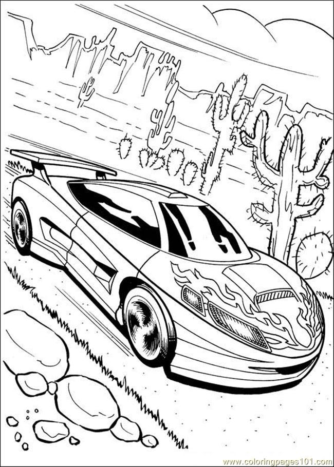 de hot Colouring Pages