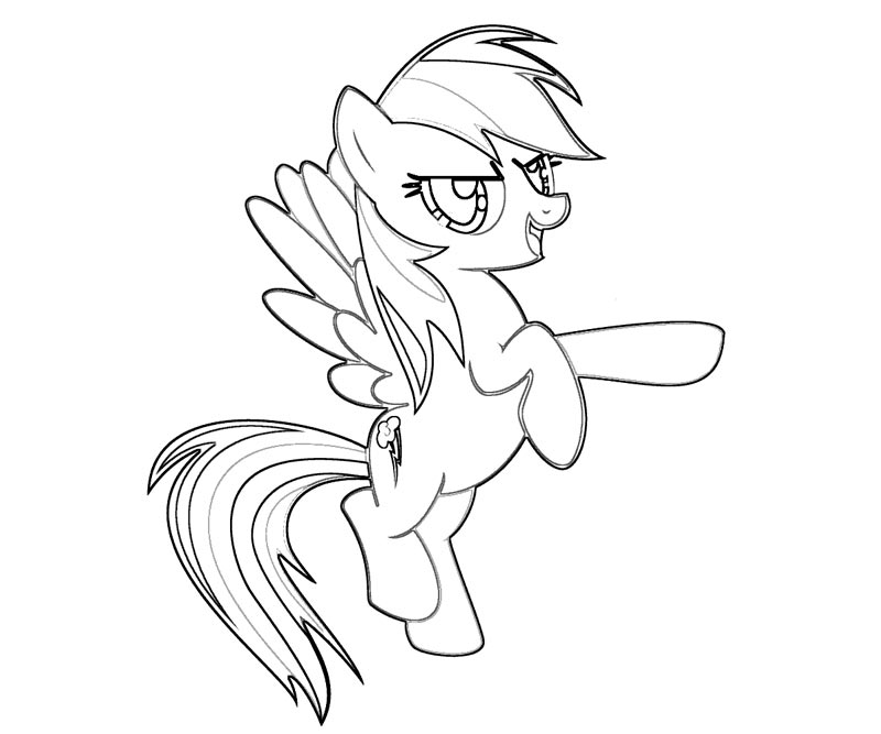 My Little Pony Wonderbolts Coloring Pages : Free coloring pages of my little pony the wonderbolts
