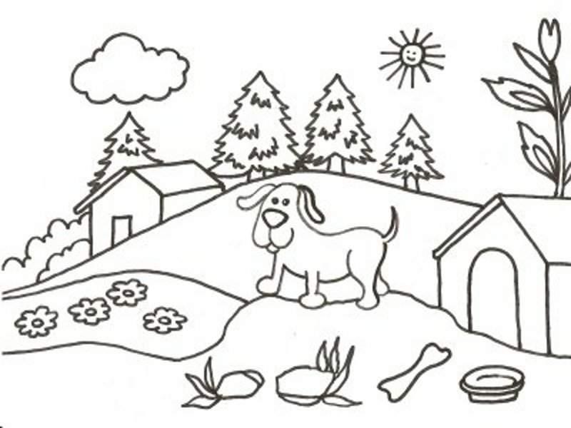 Imagenes Paisajes Para Colorear Az Dibujos Para Colorear