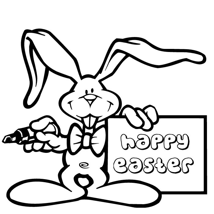 Free Happy Easter Coloring Pages Rynakimley Az Dibujos