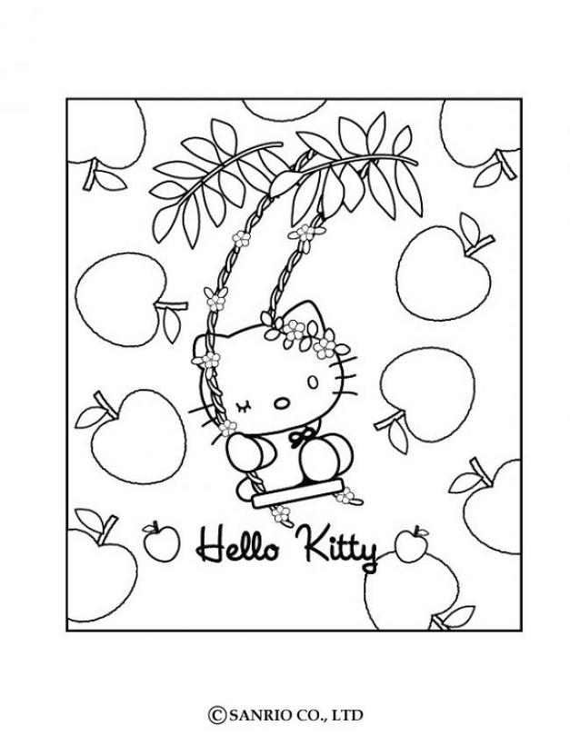 Hello kitty10 - Dibujo de Hello Kitty para imprimir