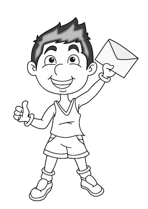 Dibujar Un Niño Az Dibujos Para Colorear