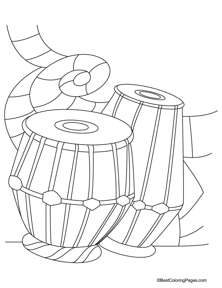 dtabla Colouring Pages