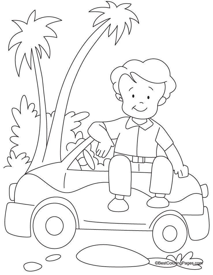 Mini car coloring page | Download Free Mini car coloring page for ...