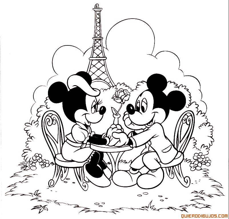 Mickey y Minnie en Paris