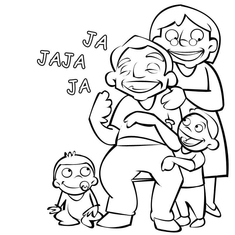 Dibujos De Abuelos Para Colorear - AZ Dibujos para colorear