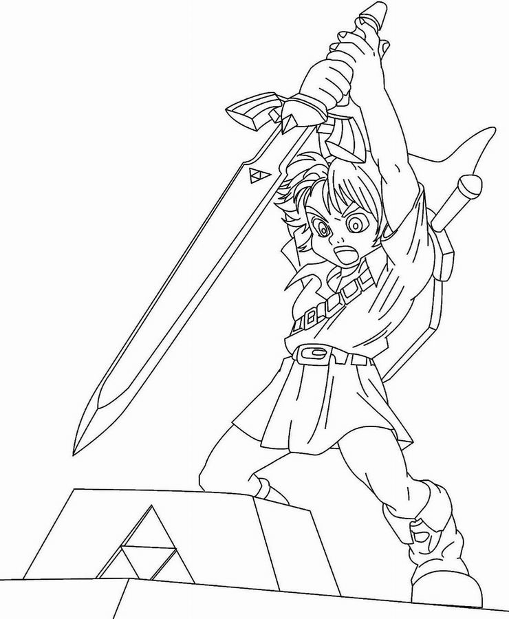 5 angry bisant zelda Colouring Pages