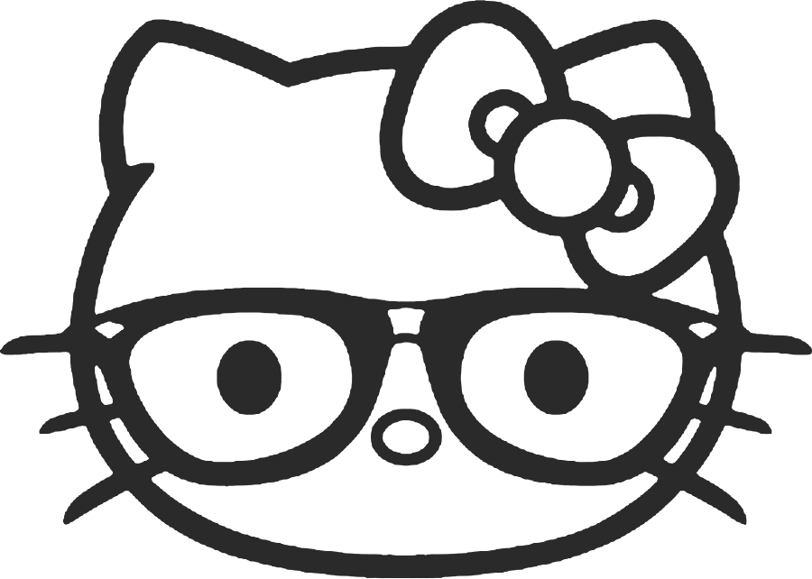 Caretas y máscaras de hello kitty para recortar y colorear