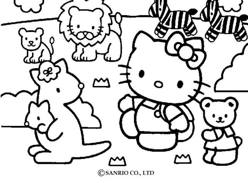 Hello kitty28 - Dibujo de Hello Kitty para imprimir
