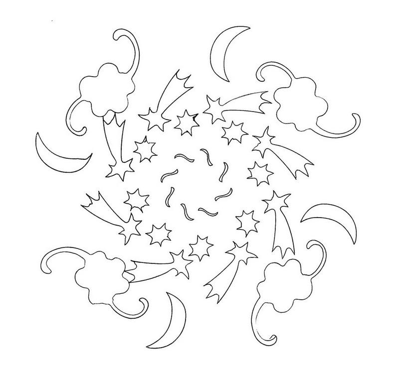 Dibujos De Lunas Y Estrellas Para Colorear  AZ Dibujos para colorear