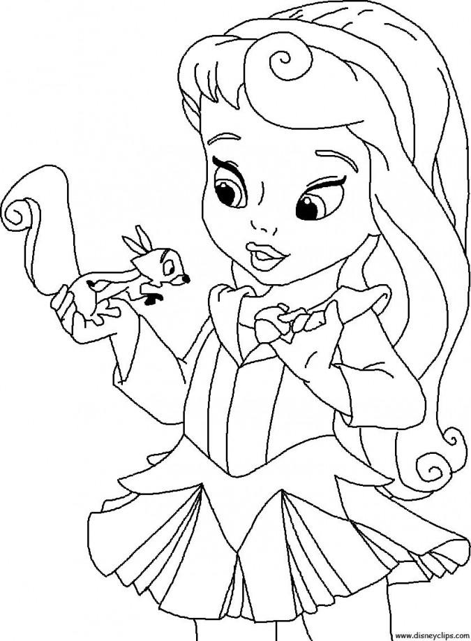 Princesas Bebes Para Colorear   AZ Dibujos para colorear
