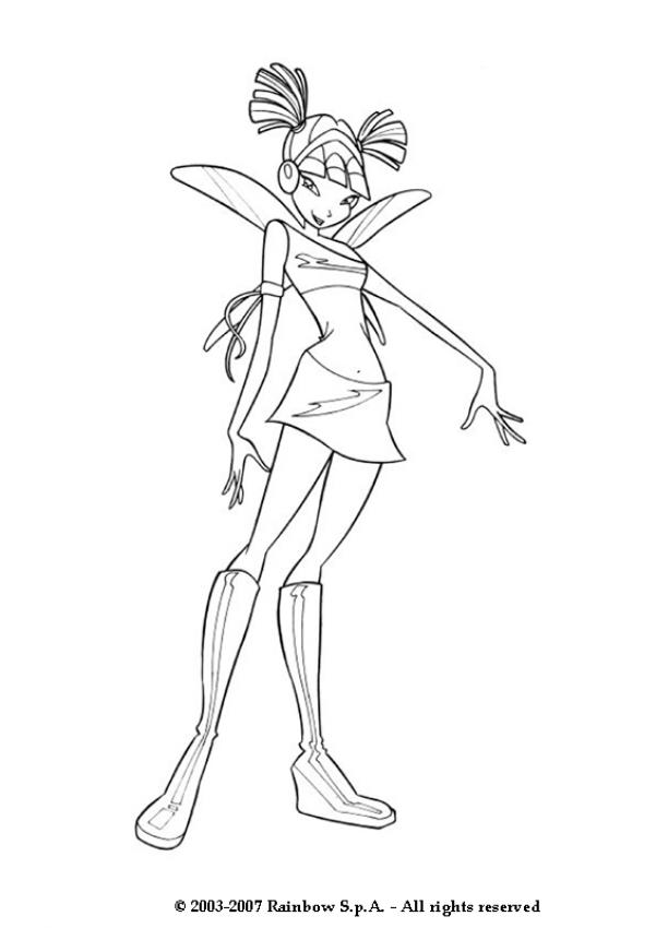MUSA coloring pages - Musa from Winx Club