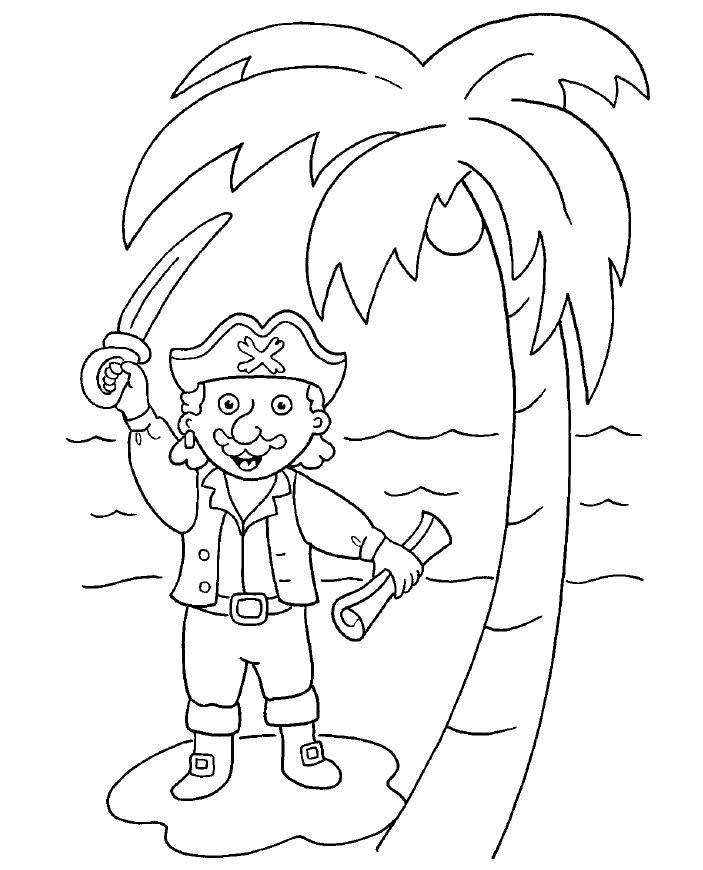 Piratas Para Imprimir - AZ Dibujos para colorear