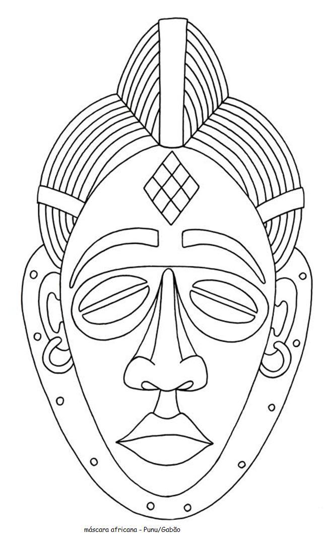 Mascaras Africanas Para Colorear - AZ Dibujos para colorear