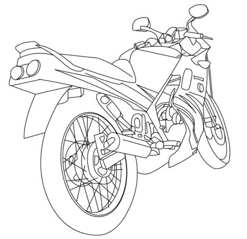 Dibujo Moto Para Colorear - AZ Dibujos para colorear