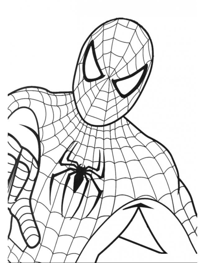 spiderman pictures to color online | Coloring Picture HD For Kids ...