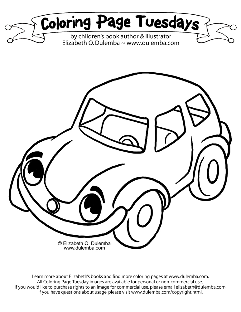 dulemba: Coloring Page Tuesday - Car