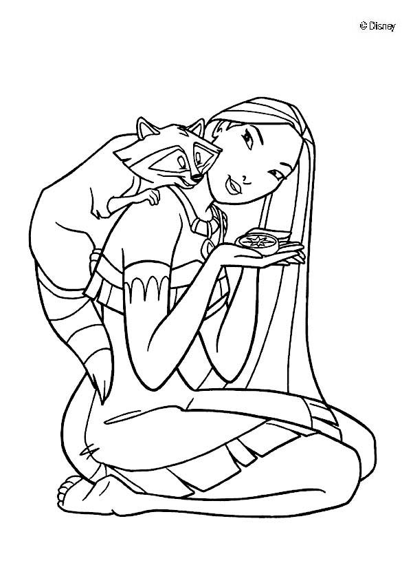 Pocahontas coloring pages - Pocahontas 7