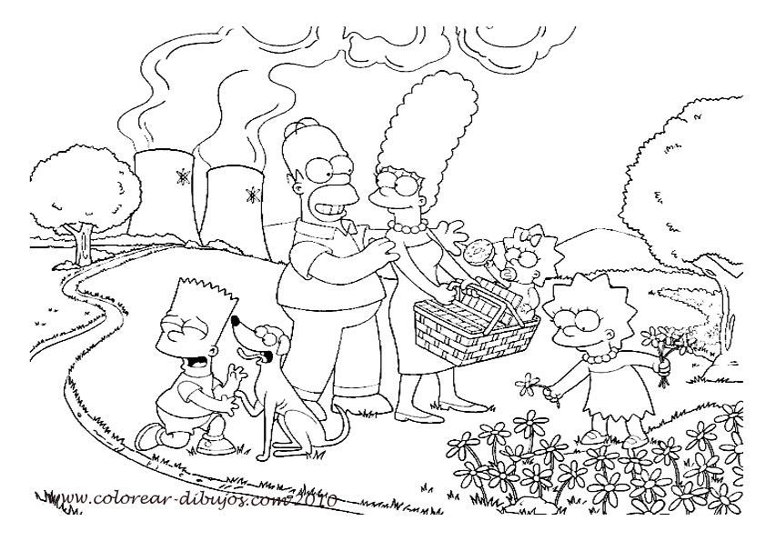 Dibujos Para Colorear De Los Simpson Para Imprimir  AZ Dibujos