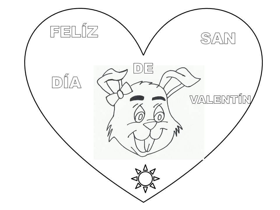 Dibujos De San Valentin Para Colorear - AZ Dibujos para colorear
