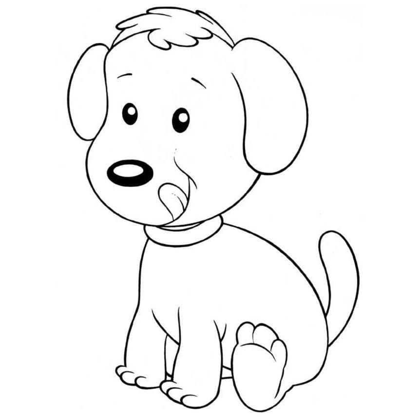 Dibujos Para Colorear De Perritos - AZ Dibujos para colorear