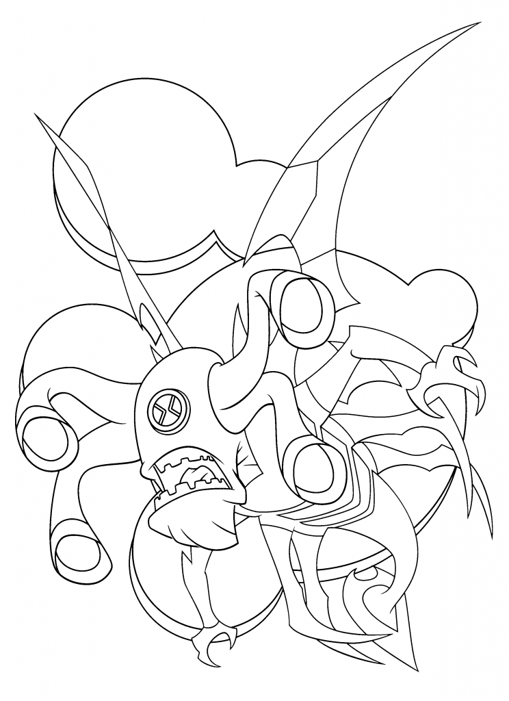 ben 10 force alien Colouring Pages