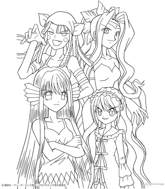 Pichi Pichi Pitch Forever: Mermaid Melody para colorear!!