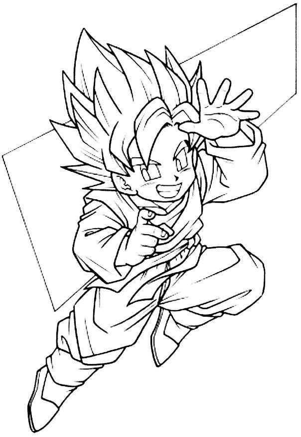 Dibujos Para Colorear Goku Fase 4  AZ Dibujos para colorear