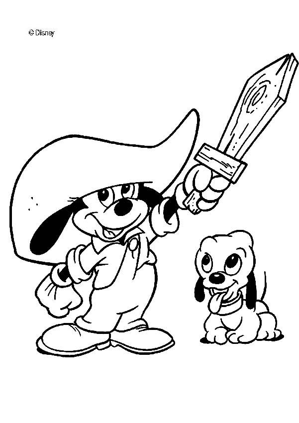 mickey mouse de bebe Colouring Pages