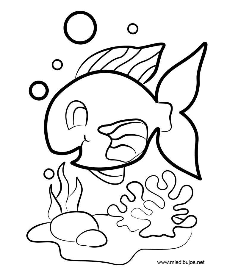 Peces de acuario colouring pages for Peces de acuario