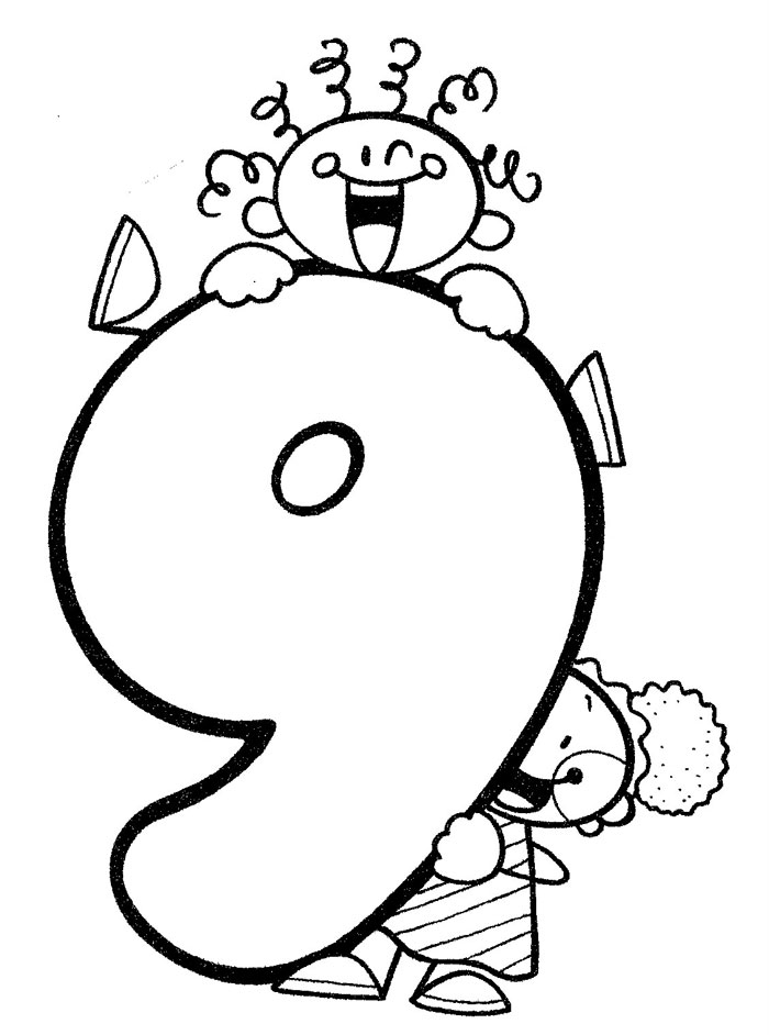 Fiti Numero 9 Colouring Pages