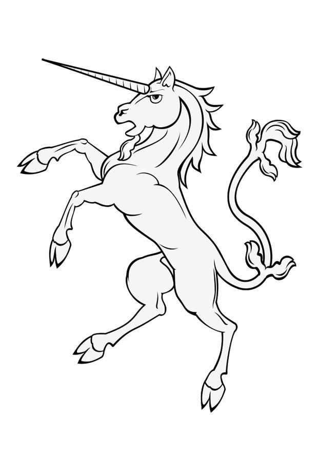 Unicornio Para Colorear - AZ Dibujos para colorear