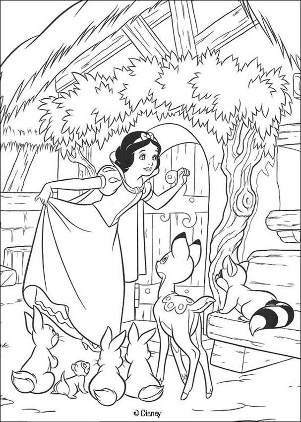Trucos PC > Dibujos Disney para colorear de Blancanieves y los ...
