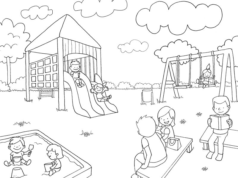 Dibujos De Parques Para Colorear - AZ Dibujos para colorear